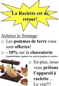 Offre raclette